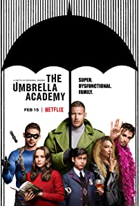 Ellen Page, Robert Sheehan, Tom Hopper, David Casta?eda, Aidan Gallagher, and Emmy Raver-Lampman in The Umbrella Academy (2019)