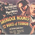 Basil Rathbone, Montagu Love, Evelyn Ankers, Nigel Bruce, and Reginald Denny in Sherlock Holmes and the Voice of Terror (1942)