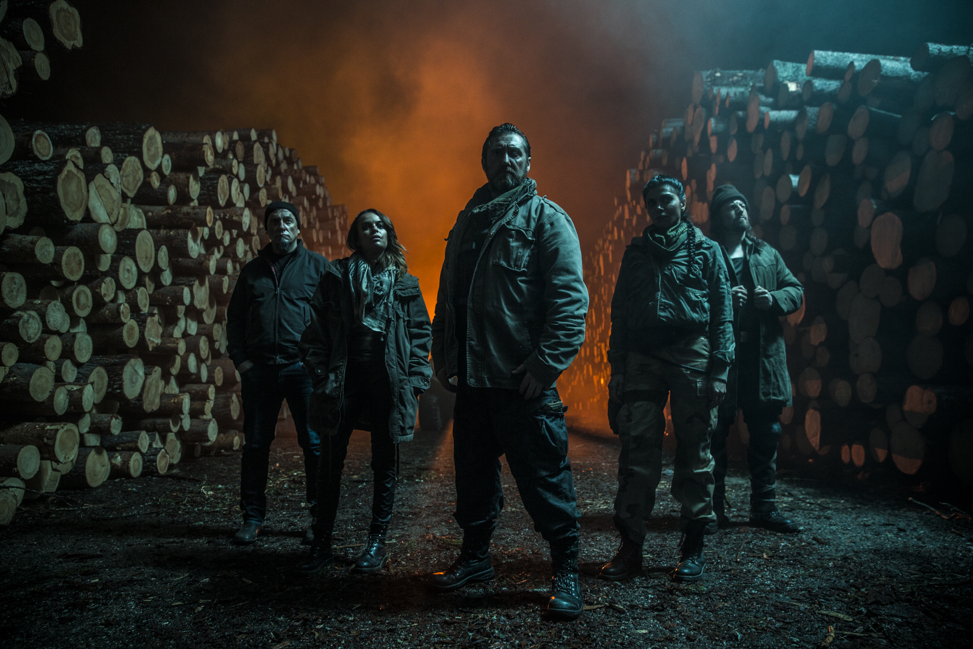 Sheila Shah, Johnny Vivash, Bianca Bradey, Michael Majalahti, and Michael Hall in Rendel (2017)