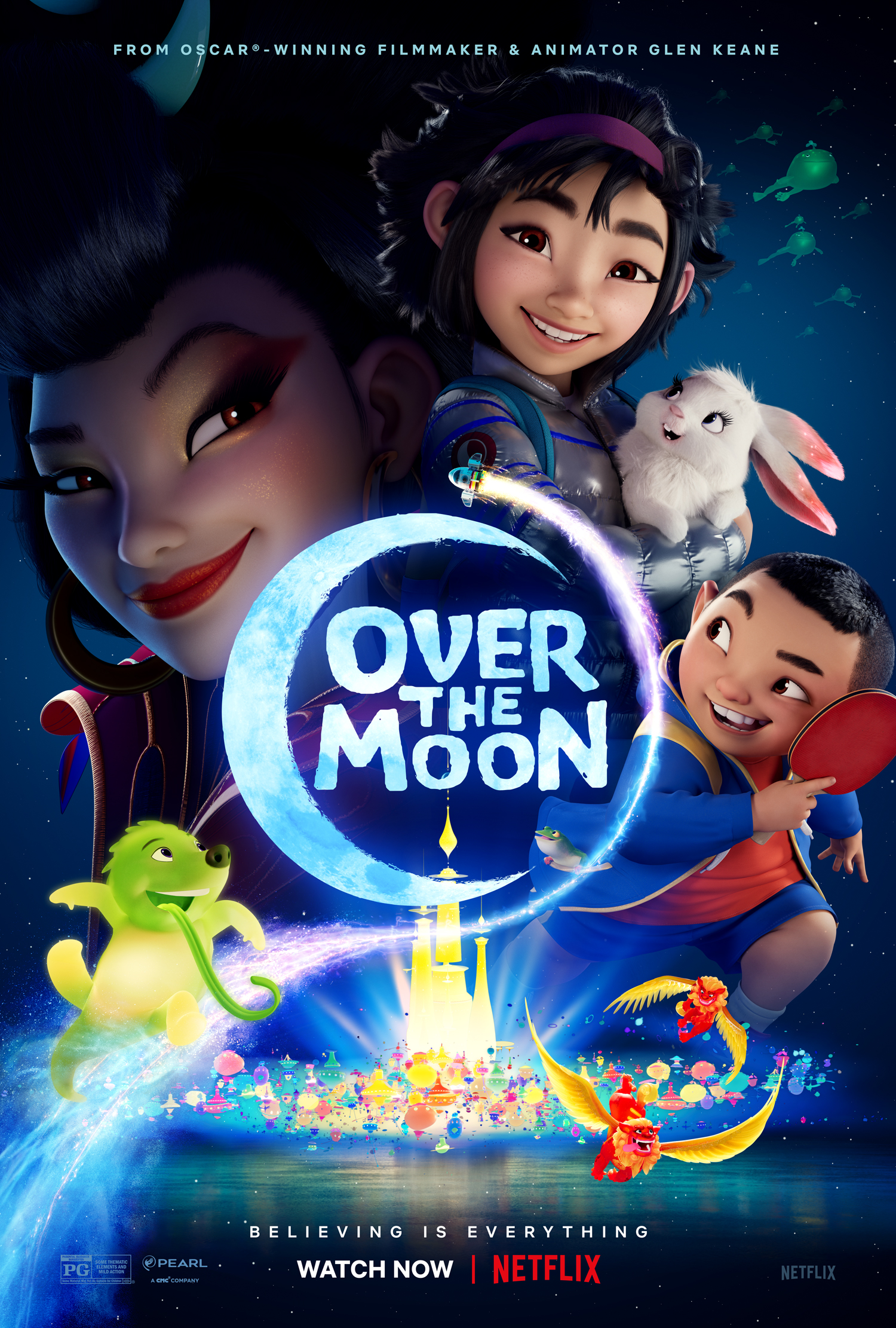 Over the Moon 2020 Dual Audio 720p NF HDRip [Hindi ORG + English] ESubs Free Download