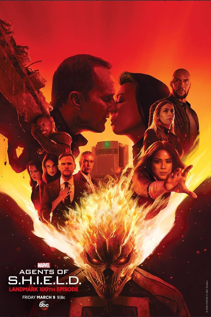 John Hannah, Ming-Na Wen, Clark Gregg, Iain De Caestecker, Chloe Bennet, Elizabeth Henstridge, and Mallory Jansen in Agents of S.H.I.E.L.D. (2013)
