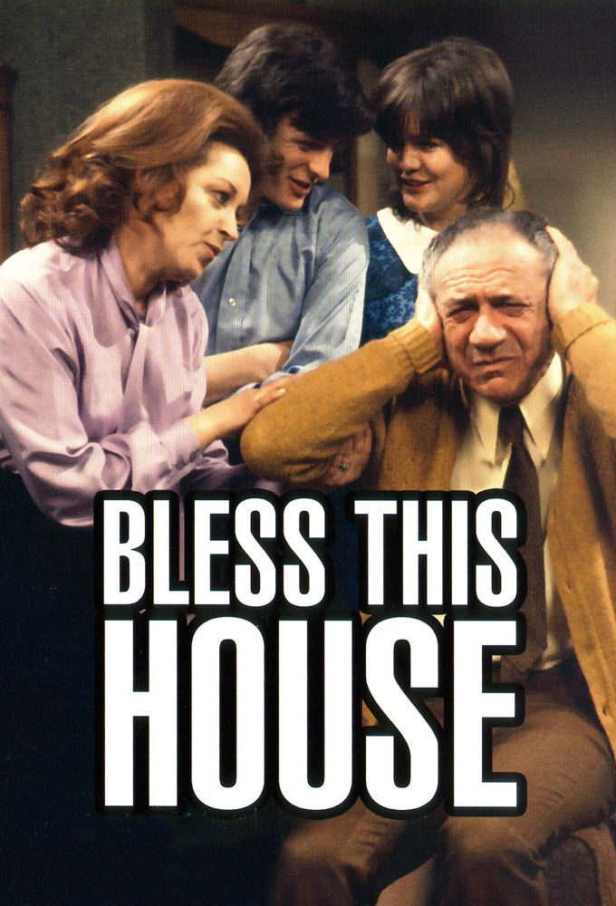 Diana Coupland, Sally Geeson, Sidney James, and Patsy Rowlands in Bless This House (1971)