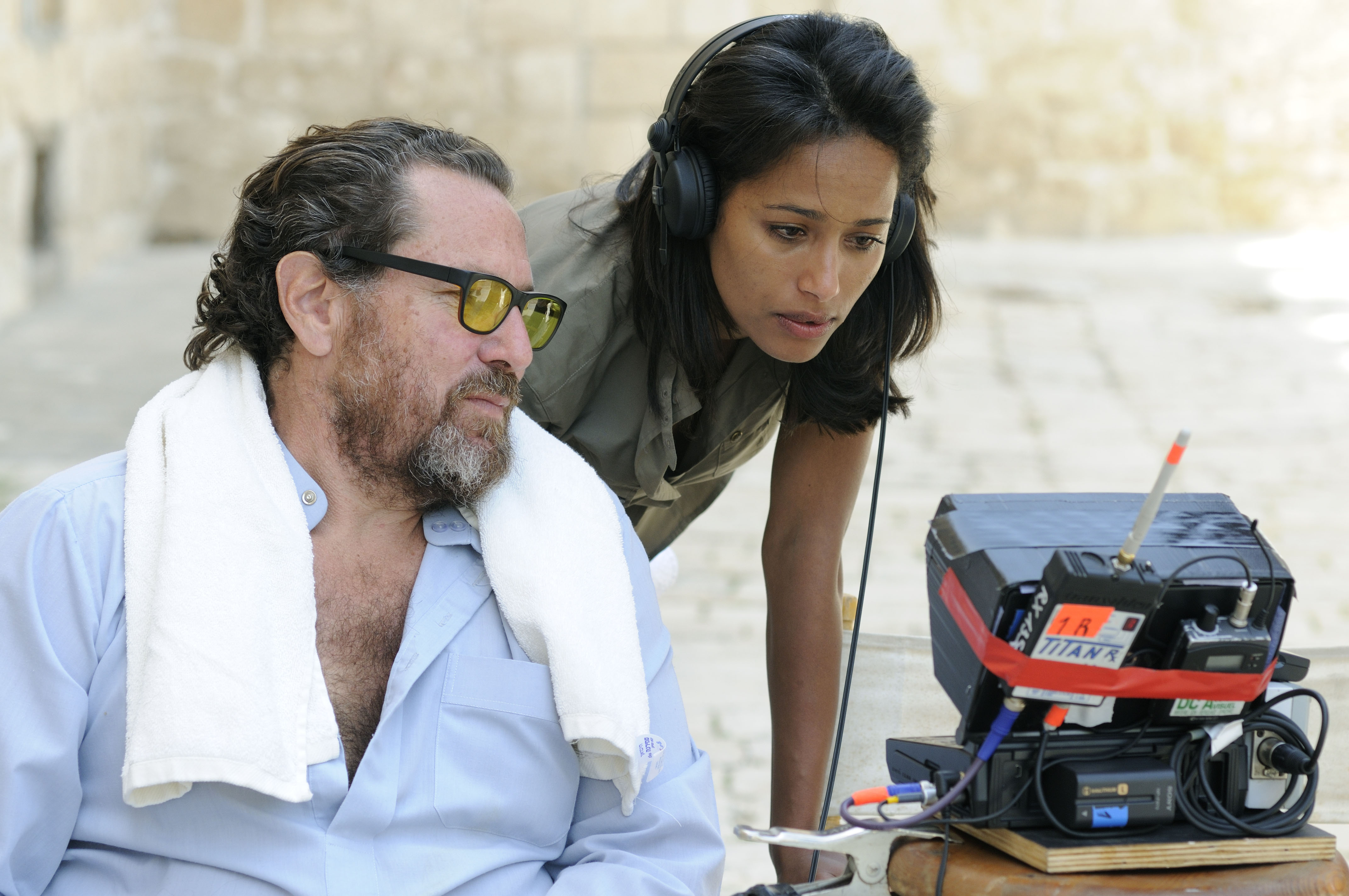 Julian Schnabel and Rula Jebreal in Miral (2010)