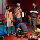 Brittany Hoza as Betty, Mark Justice as Jonah, AC Ty Ki placing some marks and Director Michael Edmonds