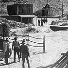 Kirk Douglas, Burt Lancaster, DeForest Kelley, and John Hudson in Gunfight at the O.K. Corral (1957)