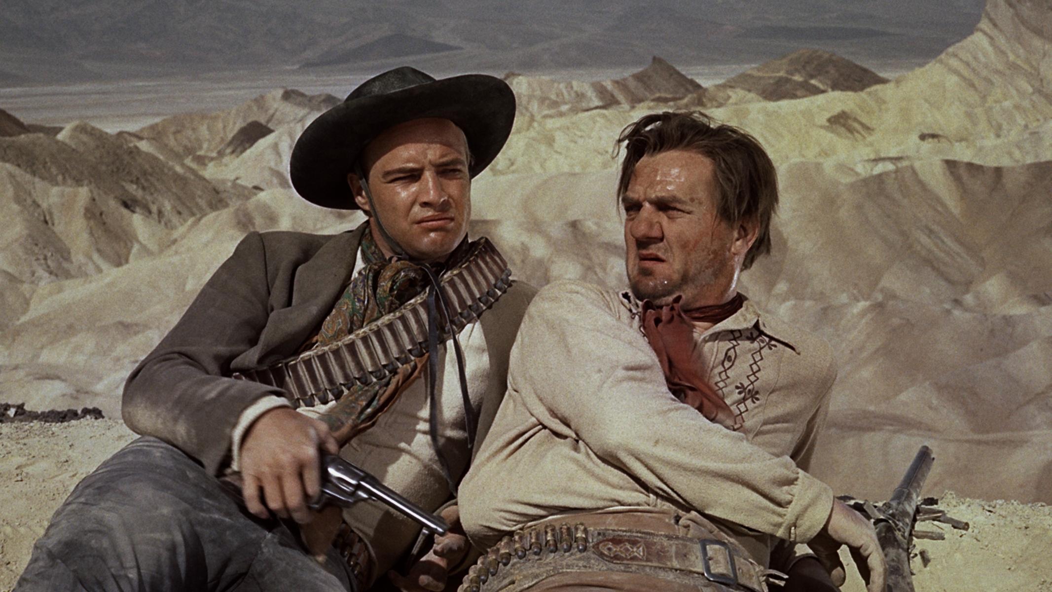 Marlon Brando and Karl Malden in One-Eyed Jacks (1961)