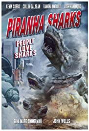 Piranha Sharks Poster