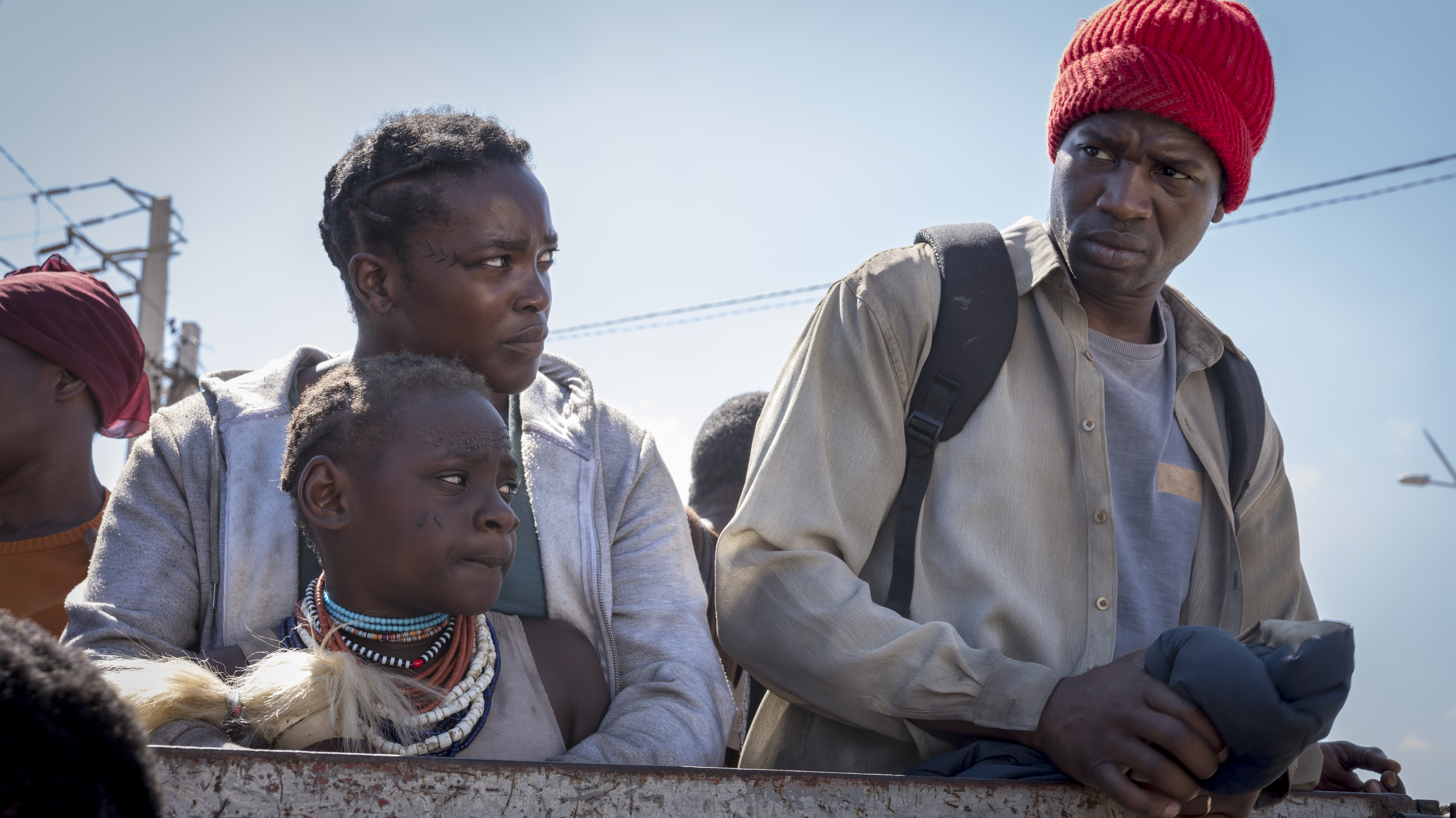 Malaika Wakoli-Abigaba, Wunmi Mosaku, and Sope Dirisu in His House (2020)