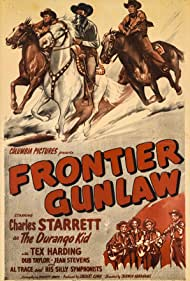 Tex Harding, Charles Starrett, Jean Stevens, Dub Taylor, Al Trace, and Al Trace and His Silly Symphonists in Frontier Gunlaw (1946)