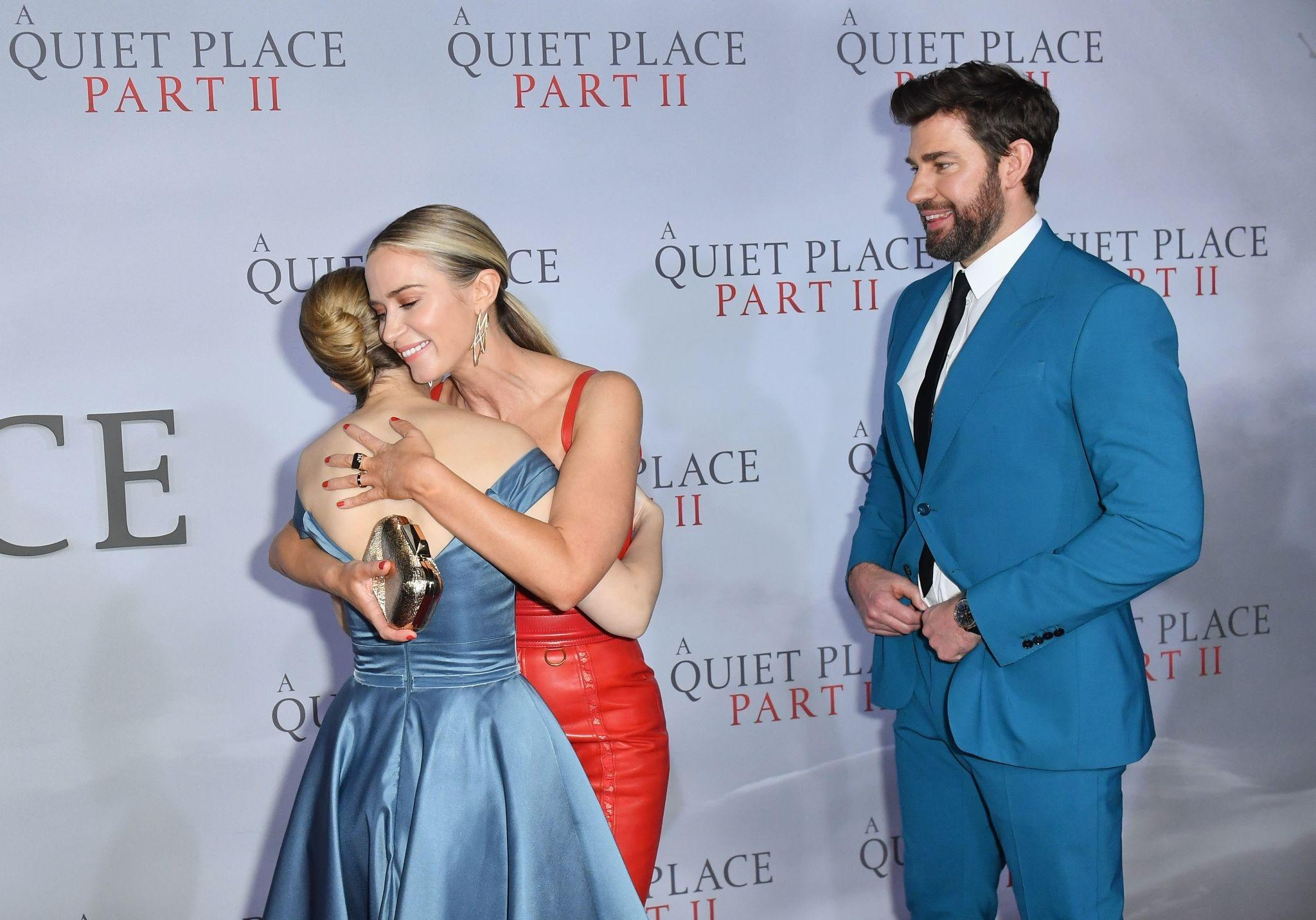 John Krasinski, Emily Blunt, and Millicent Simmonds at an event for A Quiet Place Part II (2020)