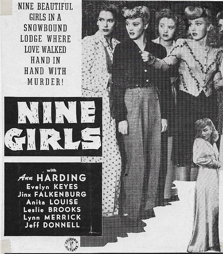 Leslie Brooks, Jinx Falkenburg, and Marcia Mae Jones in Nine Girls (1944)