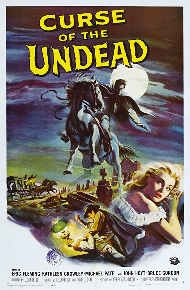 Kathleen Crowley and Michael Pate in Curse of the Undead (1959)
