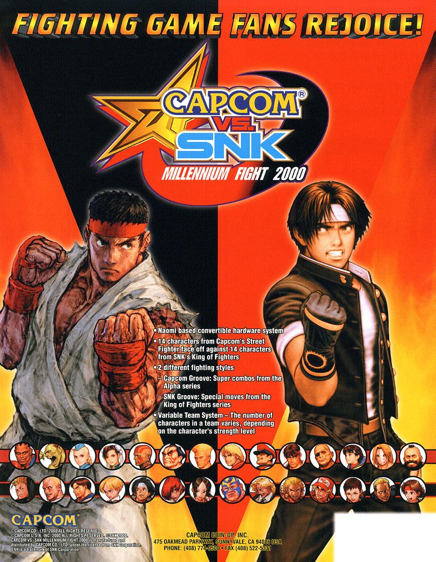 Capcom Vs Snk Millennium Fight 2000 Video Game 2000 Imdb