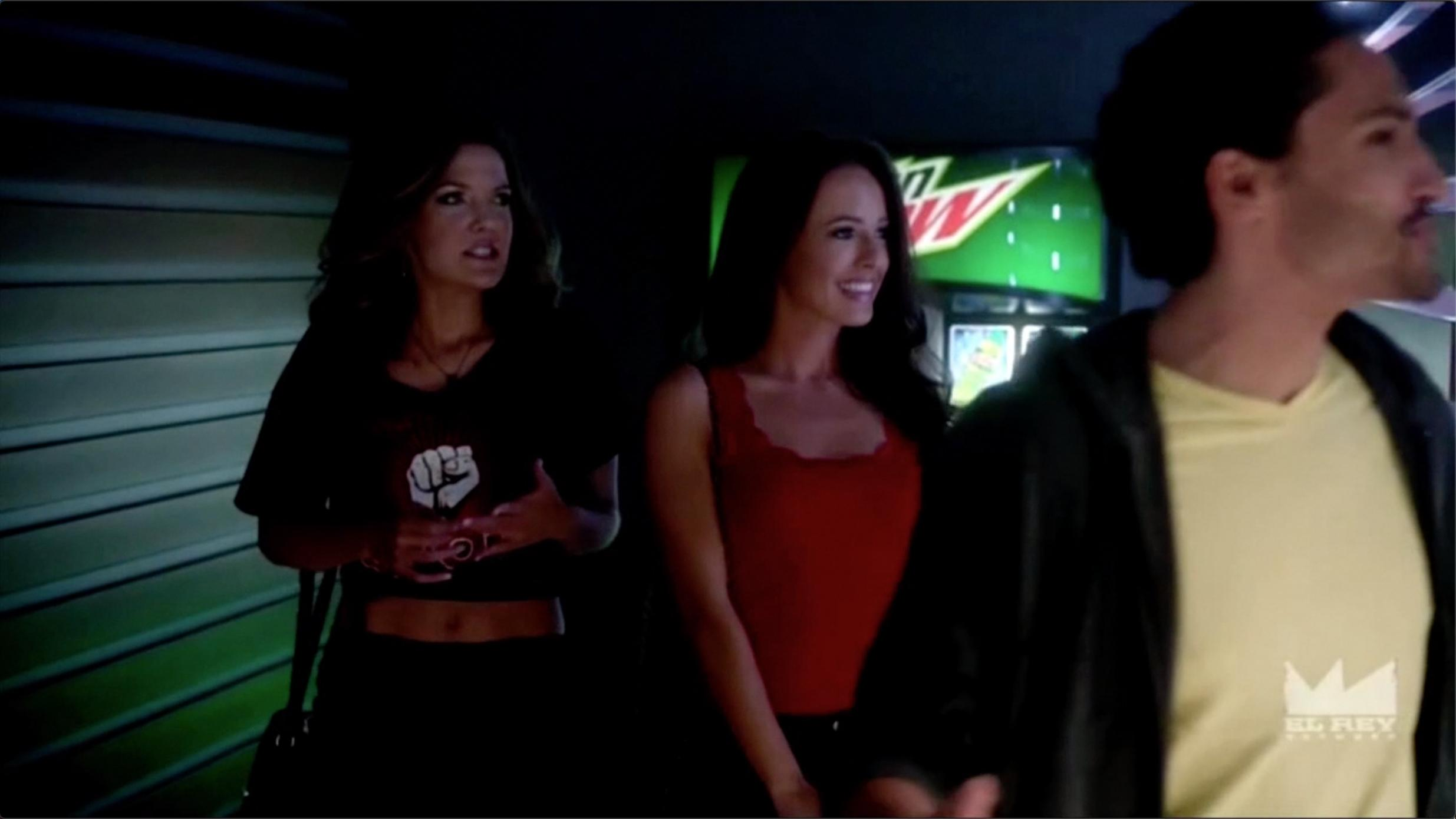Jonny Cruz, Jessica Milligan, and Kate Bond in Matador (2014)