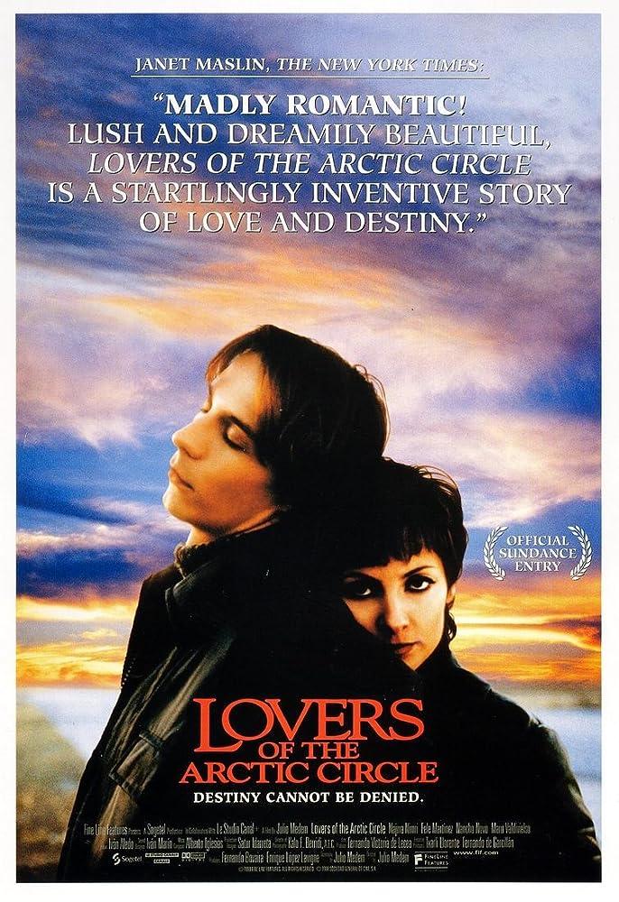 Fele Martínez and Najwa Nimri in Los amantes del Círculo Polar (1998)