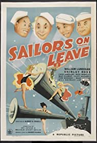 Chick Chandler, William Lundigan, and Cliff Nazarro in Sailors on Leave (1941)
