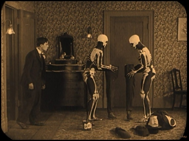 Image result for buster keaton haunted house