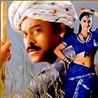 Chiranjeevi and Simran in Mrugaraaju (2001)