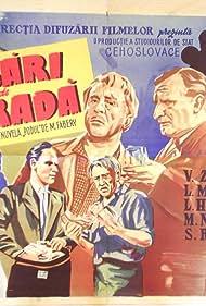 Ladislav H. Struna, Vítezslav Vejrazka, and Viola Zinková in Dravci (1948)