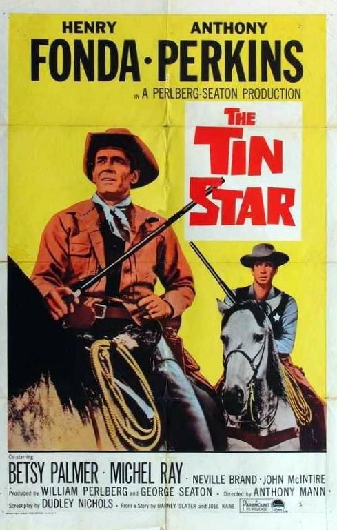 Henry Fonda and Anthony Perkins in The Tin Star (1957)