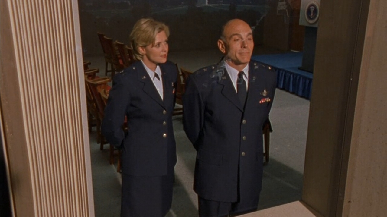 Carmen Argenziano and Amanda Tapping in Stargate SG-1 (1997)
