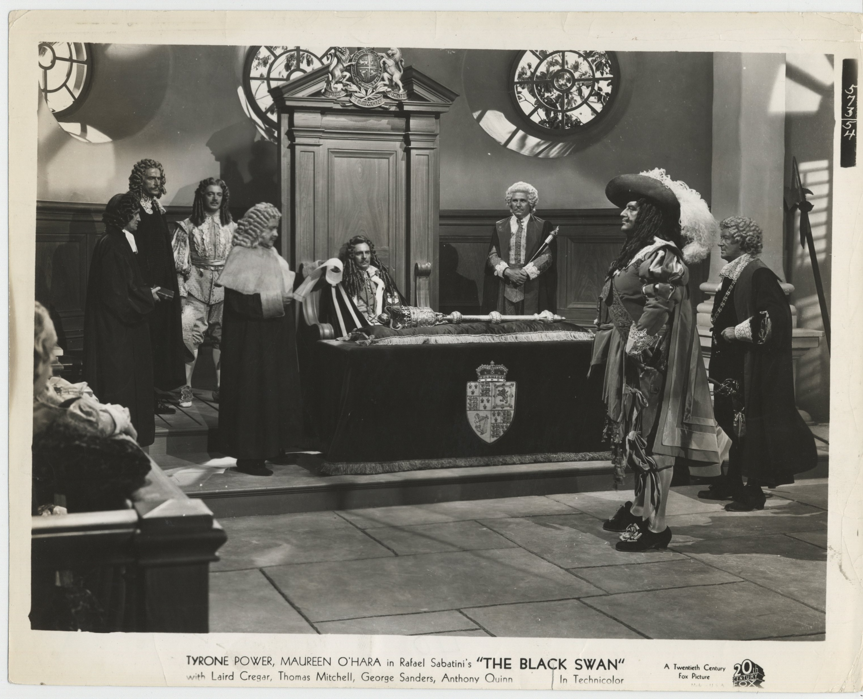 Bonnie Bannon, Laird Cregar, Olaf Hytten, Boyd Irwin, and George Kirby in The Black Swan (1942)