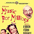 June Allyson, Jimmy Durante, José Iturbi, and Margaret O'Brien in Music for Millions (1944)