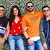 Karan Johar, Akshay Kumar, Katrina Kaif, and Rohit Shetty in Sooryavanshi (2020)