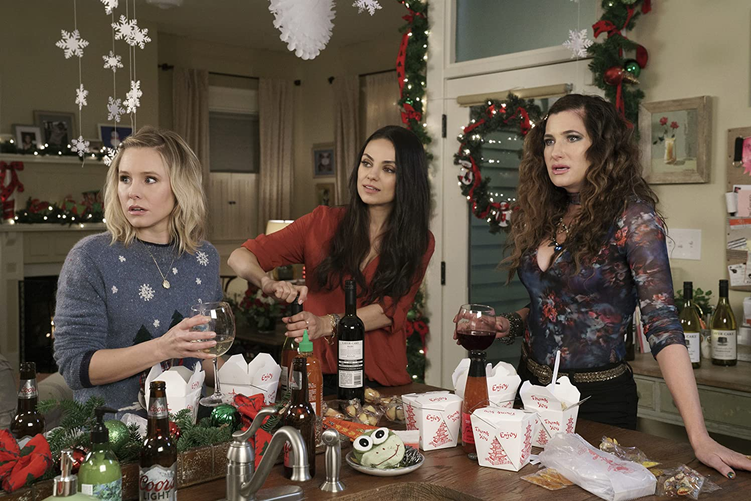 Mila Kunis, Kristen Bell, and Kathryn Hahn in A Bad Moms Christmas (2017)