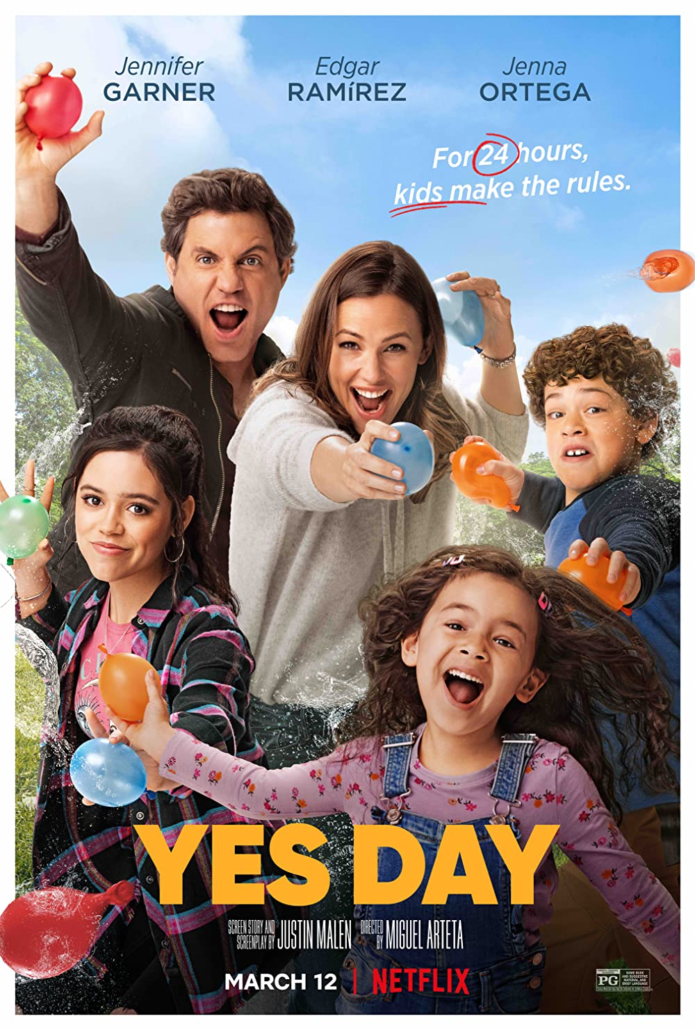Yes Day 2021 Hindi ORG Dual Audio 720p NF HDRip MSubs 600MB Download