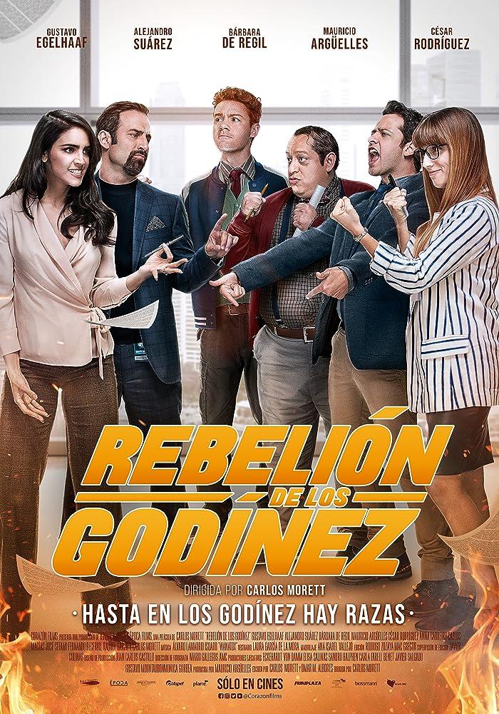 Mauricio Argüelles, Cesar Rodriguez, Gustavo Egelhaaf, Bárbara de Regil, Carlos Macias Marquez, and Anna Carreiro in Rebelión de los Godínez (2020)