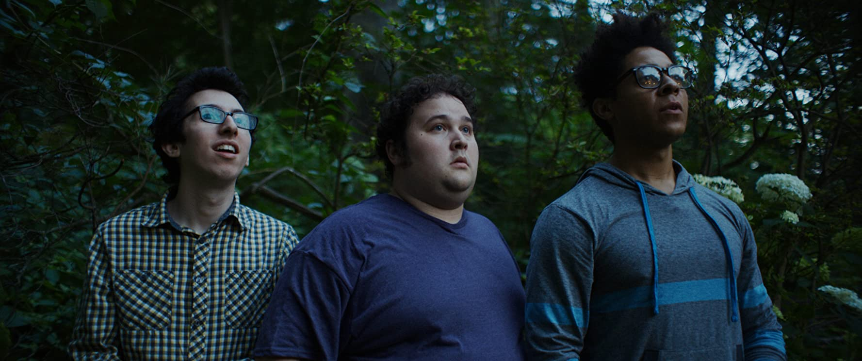 Phillip Andre Botello, Zachery Byrd, and Zack Weiner in Pledge (2018)