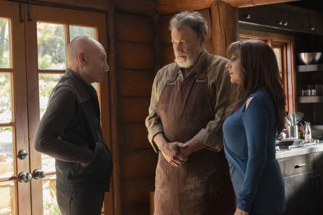 Jonathan Frakes, Marina Sirtis, and Patrick Stewart in Star Trek: Picard (2020)