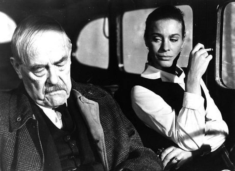 Victor Sjöström and Ingrid Thulin in Smultronstället (1957)