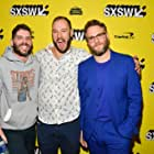 Seth Rogen, Jonathan Levine, and Evan Goldberg at an event for Long Shot (2019)