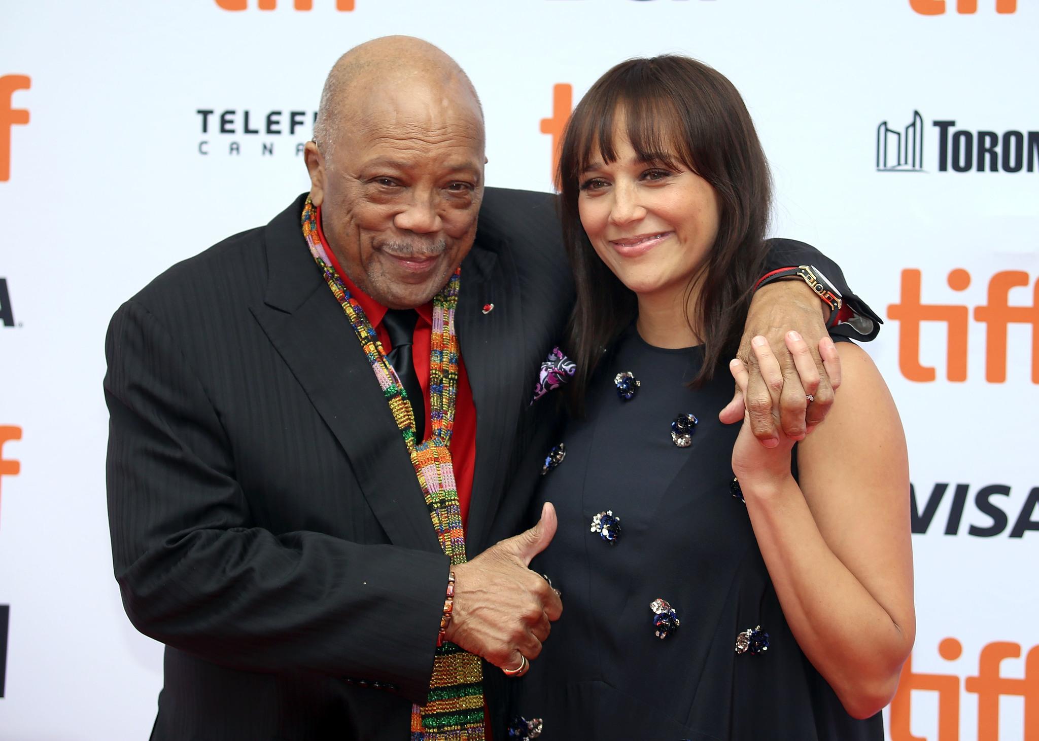 Quincy Jones and Rashida Jones at an event for Quincy (2018)