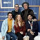 Heidi Ewing, Christian Vazquez, and Armando Espitia at an event for I Carry You with Me (2020)
