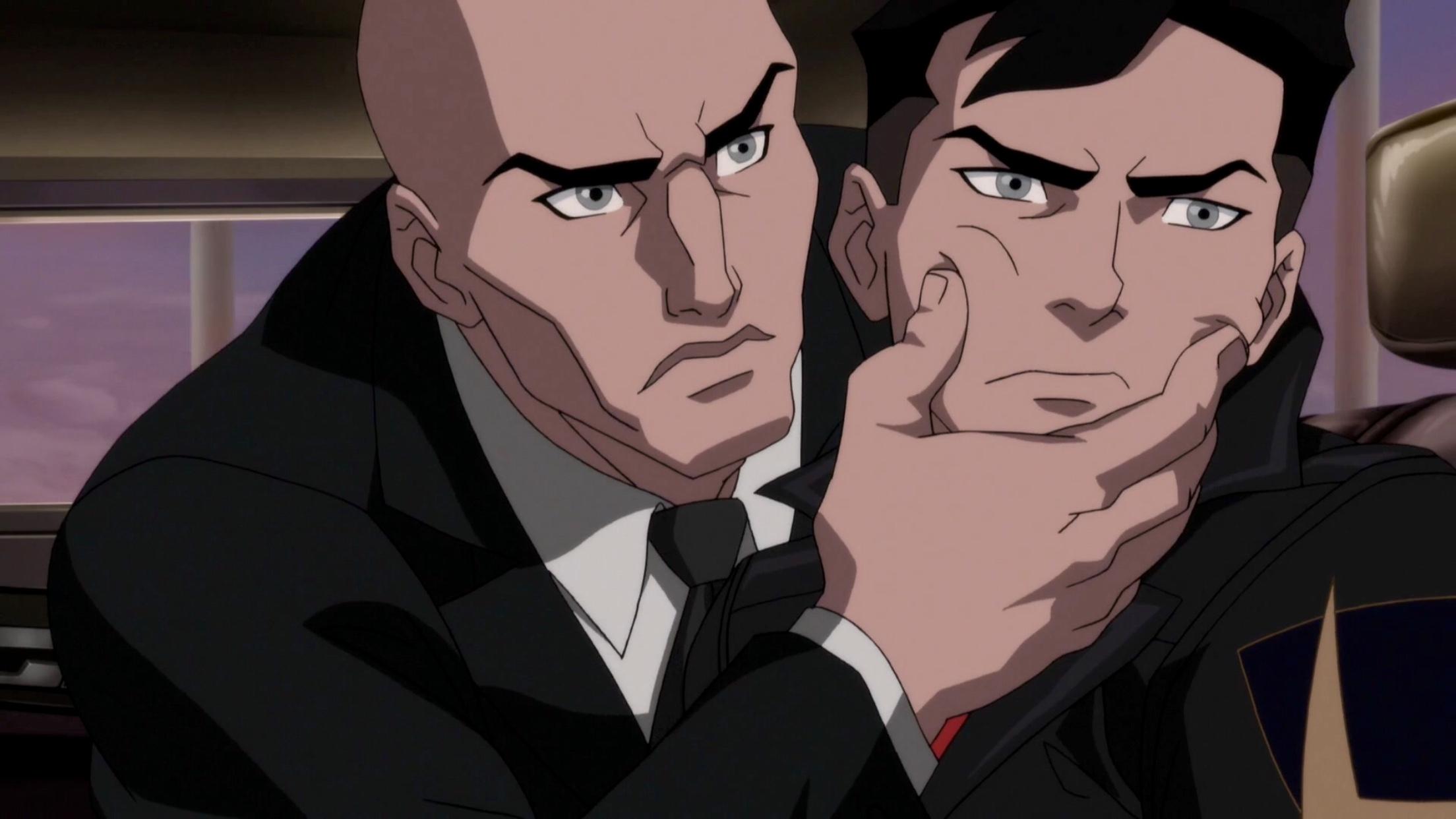 Rainn Wilson and Cameron Monaghan in The Death and Return of Superman (2019)
