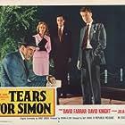 Julia Arnall, David Farrar, David Knight, and Anthony Oliver in Lost (1956)