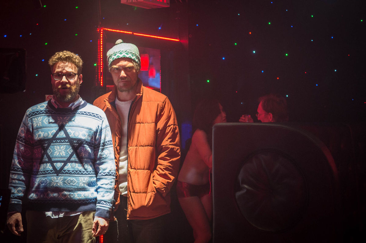 Seth Rogen and Michael Shannon in The Night Before (2015)