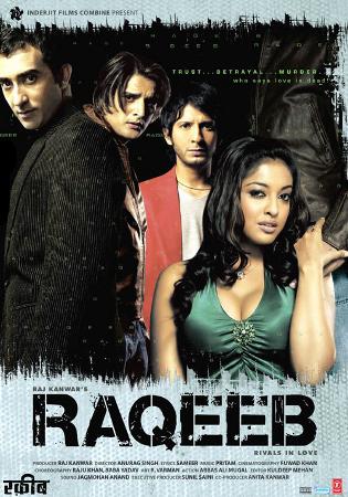 Sharman Joshi, Rahul Khanna, Jimmy Sheirgill, and Tanushree Dutta in Raqeeb (2007)