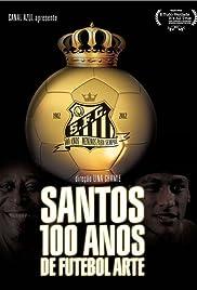 Santos 100 Anos de Futebol Arte Poster