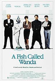 John Cleese, Jamie Lee Curtis, Kevin Kline, and Michael Palin in A Fish Called Wanda (1988)
