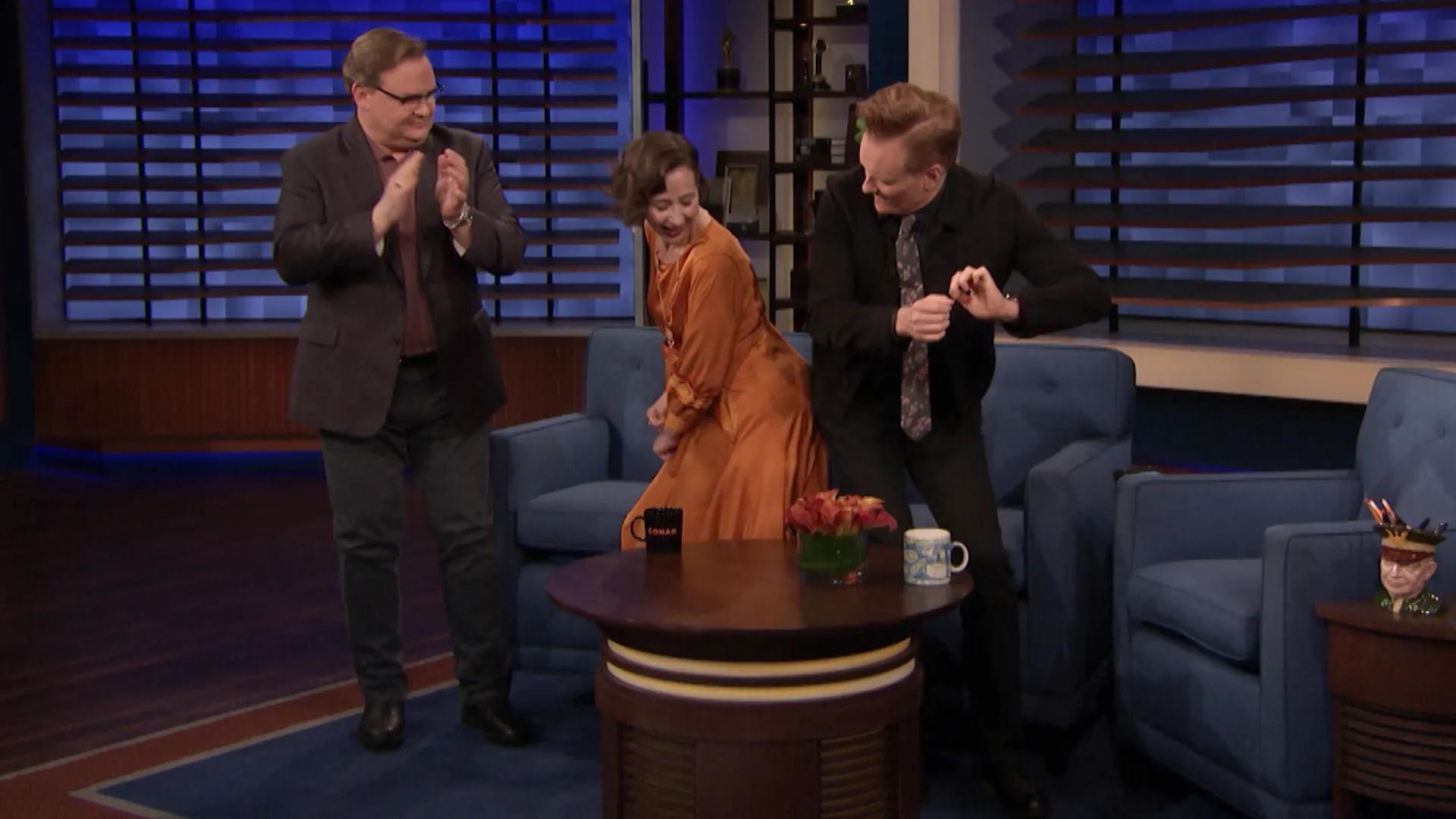 Conan O'Brien, Andy Richter, and Kristen Schaal in Kristen Schaal/The Sklar Brothers (2020)