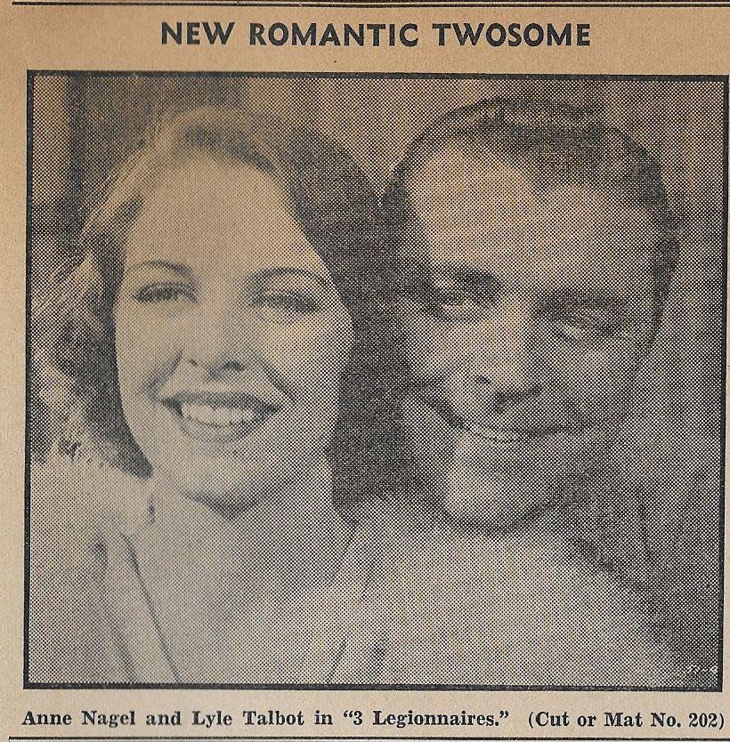 Anne Nagel and Lyle Talbot in Three Legionnaires (1937)