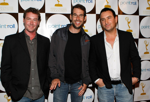 """Entourage"" writers Brian Burns, Doug Ellin, and Rob Weiss at The Producer's Peer Group Emmy Nominees For Outstanding Programs Party."