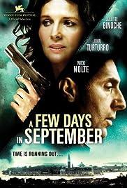 Quelques jours en septembre Poster