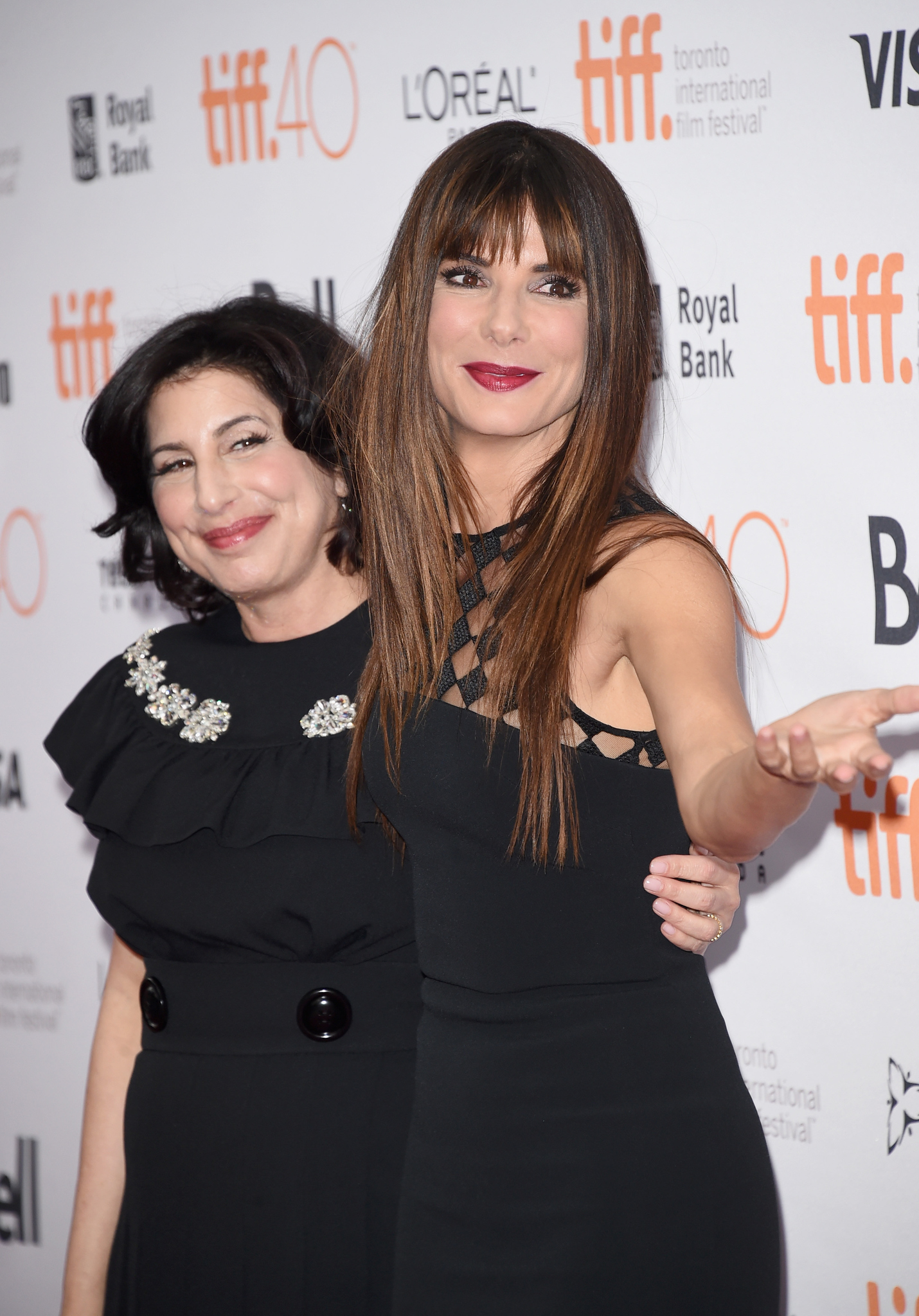 Sandra Bullock and Sue Kroll at an event for Our Brand Is Crisis (2015)