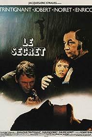 Jean-Louis Trintignant, Marlène Jobert, and Philippe Noiret in Le secret (1974)