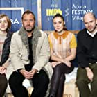 Jude Law, Sean Durkin, Oona Roche, and Charlie Shotwell at an event for The IMDb Studio at Acura Festival Village (2020)